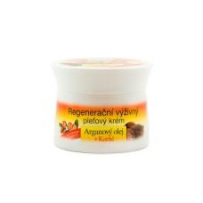 Восстанавливающий крем для лица с Аргановым маслом и маслом ши (без парабенов и силиконов) фирмы BIONE